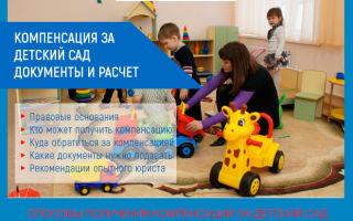 Компенсация за детский сад в 2020 году: документы и расчет