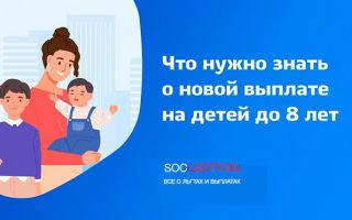 Декабрьские выплаты на детей до 8 лет