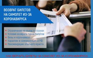 Возврат билетов из-за коронавируса: самый полный список авиакомпаний