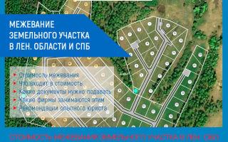 Межевание земельного участка в СПб и Лен. Области: стоимость в 2019 году