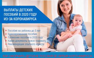 Выплаты детских пособий в связи с коронавирусом в 2021 году