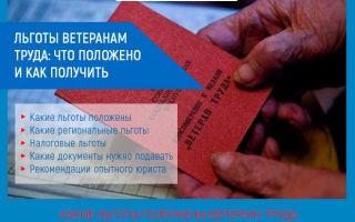 Какими льготами пользуются ветераны труда РФ