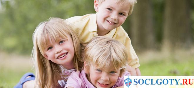 Материнский капитал на 3 ребенка