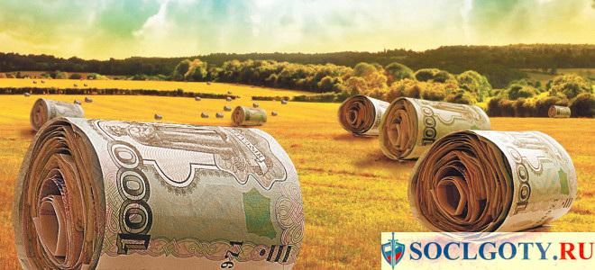деньги на развитие сельского хозяйства